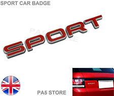 SPORT Badge - Red & Chrome - LAND RANGE ROVER SPORT VOGUE DISCOVERY FREELANDER