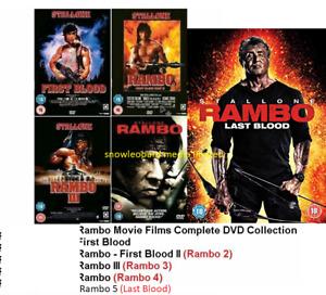 RAMBO 1-5 DVD COMPLETE COLLECTION  1 2 3 4 5 MOVIE FILM  Original UK Releas R2