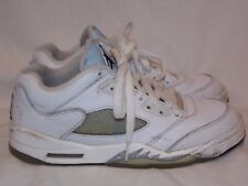 NIKE Air Jordan 5 Retro Low White/Black-Wolf Grey Sneakers 819172-122 Size 4Y