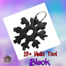 18 in 1 Stainless Steel Multi Tool Portable Snowflake Shape Key-Chain EDC