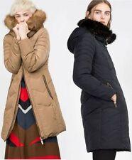 Zara Patternless Down Casual Coats & Jackets for Women