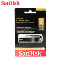 SanDisk Extreme PRO 1TB USB 3.1 Solid State Lecteurs Flash Cle CZ880 Tracking#