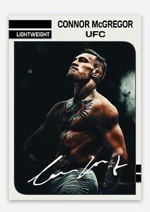 Conor McGregor UFC MMA Lightweight Autograph Signed RP Custom Trading Card