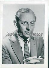 1958 Portrait of TV Host Author Alistair Cooke Original News Service Photo