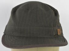 Gray Quiksilver Surf Brand Co Logo Striped Boys Kids Combat Cadet Hat Cap Fitted