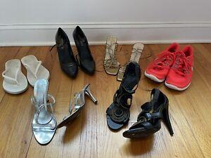 Lot of 6 pairs of Women's shoes Size 9.5 Nike Bcbgmaxazria Anne Klein Charles Da