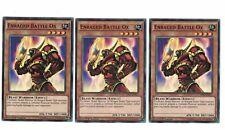 3x Enraged Battle Ox BP03-EN011, Common, Mint, Englisch, 1st, Playset