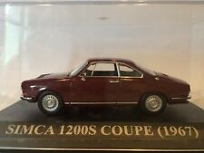 SIMCA 1200S COUPE 1967 SCALE 1/43 ALTAYA