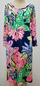 """New Lilly Pulitzer Women's Kenzie Dress """"Travelers Palm,"""" S, M"""