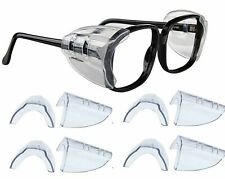 4 Pair Safety Eye Glasses Side Shields Clear Slip Protection Medium or Small