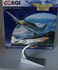 1/72 Corgi Diecast AA27702 North American F-51d Mustang USAF 1951 With Rockets