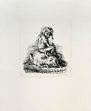Weber: Der Kaspar und sein Ochse. [1972]. Signierte Original-Lithografie.