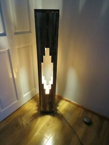 Decorative Unique recycled flor lamp 115cm handmade rustic with two led BCbulb