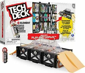 TECH DECK Play and Display Transforming Ramp Set and Carrying Case with Exclu...