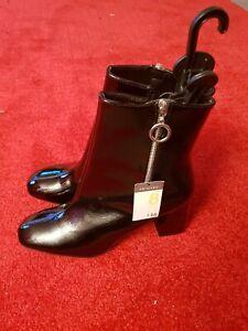 Ladies. Primark Black Patent block heel Ankle Boots. UK size 8/41 BNWT.