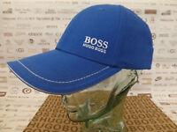 HUGO BOSS GREEN Baseball Cap1 Men's R. Blue Cotton Hat Branded Sport Caps BNWT