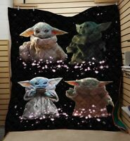 Baby Yoda Blanket, Star Wars Blanket - Cozy Plush Quilt, Fleece Blanket