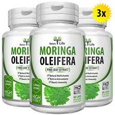 180 Natural Moringa Capsules 5000mg Per Capsule Strong Leaf Pure Extract Powder