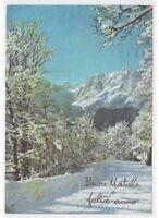 Navidad strada de las montañas paisaje nieve foto tarjeta postal