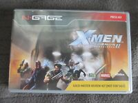 ULTRA RARE- N-Gage X-MEN Legends II Gold Master Review Case and sleeve