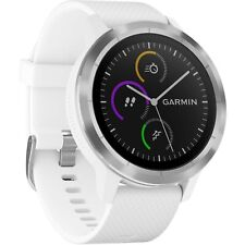 Garmin Vivoactive 3 GPS Smartwatch HRM Heart Rate Monitor Steel Bezel White