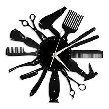 Hair tools Vinyl Wall Clock Record Unique Art Design Home and Room Decoration