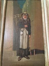 Small Vintage Painting Of A Woman Villager Himalayan Signed