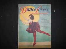 1924 OCTOBER DANCE LOVERS MAGAZINE - STORIES, ILLUSTRATIONS AND PHOTOS - ST 3438
