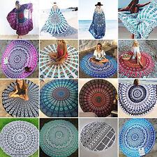 Indien rond tapisserie Mandala Jeté de lit Tenture murale Art PLAGE SERVIETTE