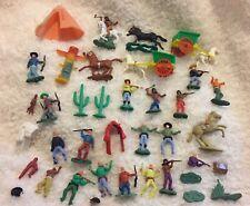 Vintage American Indians Horse Toy Figures Models 1970's 80's Cowboys Retro Set