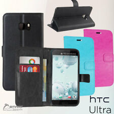 Wallet Flip Card Slot Stand Case Cover For Htc U Ultra