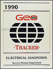 1990 Geo Tracker Wiring Diagrams Electrical Diagnosis Service Manual 90