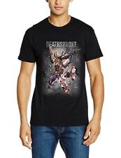 OFFICIAL DC COMICS JUSTICE LEAGUE DEATHSTROKE & HARLEY QUINN T SHIRT NEW SIZE M