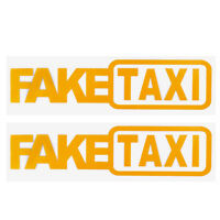 2Pcs FAKE TAXI Car Sticker FakeTaxi Decal Funny Car Styling Vinyl Decal 20x5cm