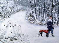 Signed 'Giclee' print direct from Steve Sanderson Greyhound Art.