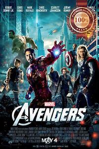 THE AVENGERS MARVEL OFFICIAL ORIGINAL CINEMA MOVIE FILM PRINT PREMIUM POSTER