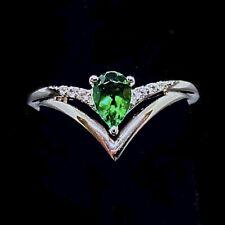 lab created emerald ring