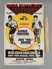 Authentic 1973 Heavyweight Championship Foreman vs Roman Boxing Poster NR