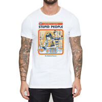 A Cure for Stupid People Men's Cotton Funny T-shirts Short Sleeve Tops Tee