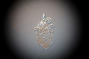 Nazparvardeh Persian poem calligraphy pendant Hafiz Niakan Stainless steel