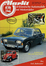 Markt 9/85 1985 Fiat Topolino Ford 17M Goliath Hansa Motosacoche Rixe Spitfire N