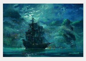 Modern Home Decor HD Print Abstract art painting on canvas Wall Art sailboat FC1