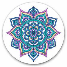 More details for 2 x vinyl stickers 20cm - indian mandala boho yoga  cool gift #19366