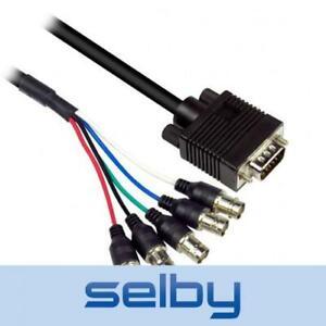30cm Avico VGA Plug to 5 BNC RGBHV Female Sockets Link Cable