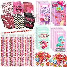 96 Pcs Valentines Day Gifts for Kids Stationery Bags And Cards For School