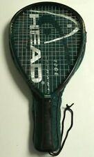 Head Edge Pyramid Power Racquetball Racquet 3 5/8 Grip w/ Cover Case Black/Green