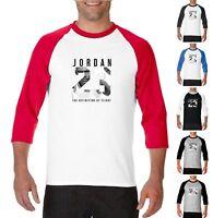 NEW Michael Air Legend 23 Jordan 3/4 Baseball T-Shirt Mens Jersey Raglan Fashion