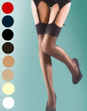 Shine Plain Top Glossy Stockings by Silky 15 Den 8 Colours O/S Reg