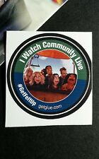 "I WATCH COMMUNITY LIVE GET FELT UP CAST TV SMALL 1.5"" GET GLUE GETGLUE STICKER"
