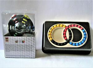 1 Vintage + 1 New! Old Hungarian Rings Puzzle MIB + Rubik's UFO Puzzle MIB